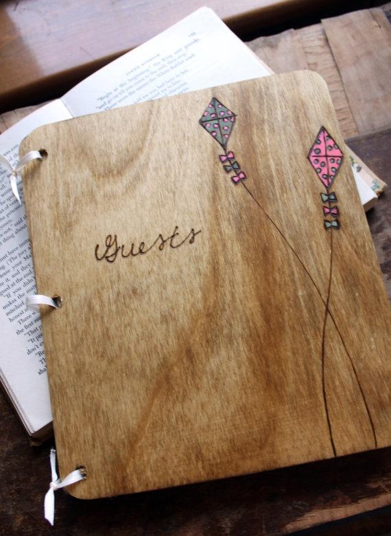 Custom Wedding Guest Book Kites by LazyLightningArt on Etsy, $40.00
