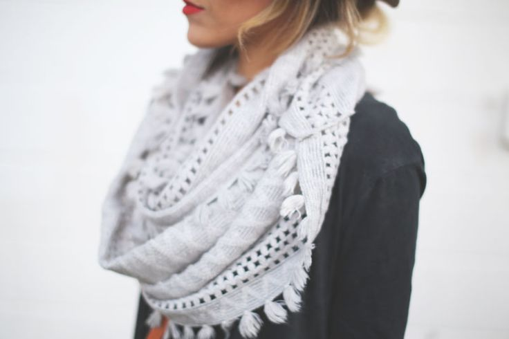 grey infinity loop; anthropologie
