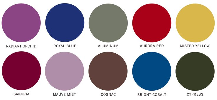Pantone's Top 10 Colors for Fall 2014 #pantone #fashion #topcolors