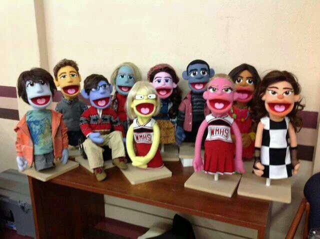 Glee puppets!