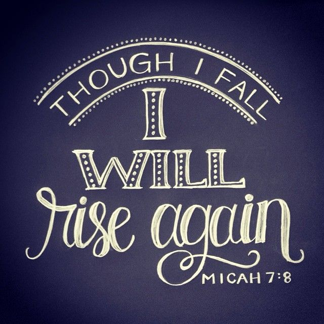 Even if you've fallen seven times, God will help you get back on your feet! No one is too far gone, too messed up, out of second chances, or chalked up as a loss with God!
