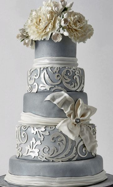 Southern Blue Celebrations  Silver Wedding Cake Ideas   Inspirations Indian Weddings Inspirations  Silver Wedding Cake  Repinned by   indianweddingsmag indianweddingsmag com