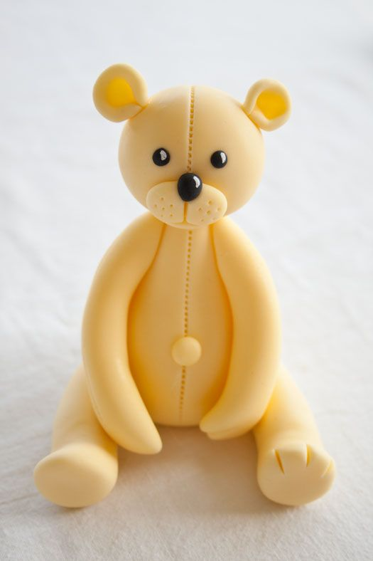 How to make a teddy bear cake topper part 2 on http://cakejournal.com/tutorials/how-to-make-a-teddy-bear-cake-topper-part-2/