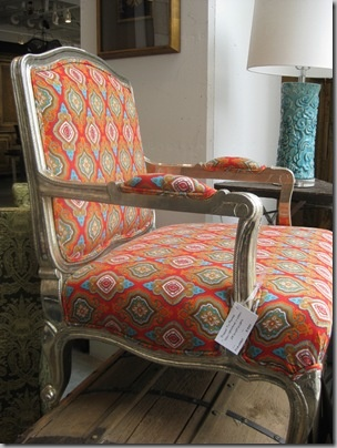 upholstered chair contrast