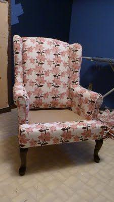 d i y d e s i g n: Re-Upholstering Furniture Part 2: Upholstering