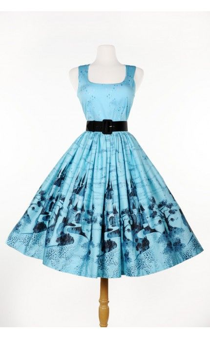 Aurora Dress in Blue Castle Print $144 (or £120)