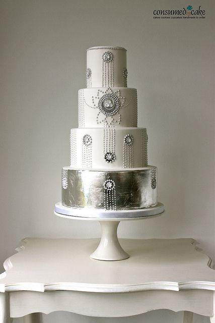1920's Inspired Wedding Cake by ConsumedbyCake, via Flickr