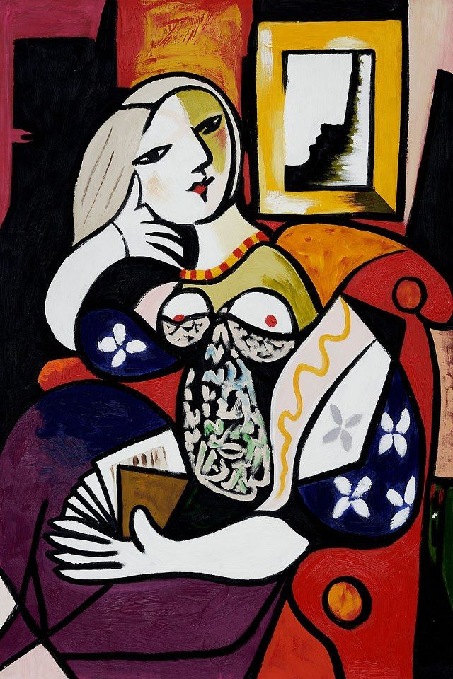 'Woman with Book' - Picasso. ~Repinned Via Ladonna