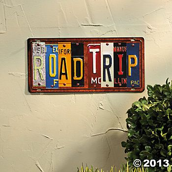 License Plate Wall Sign