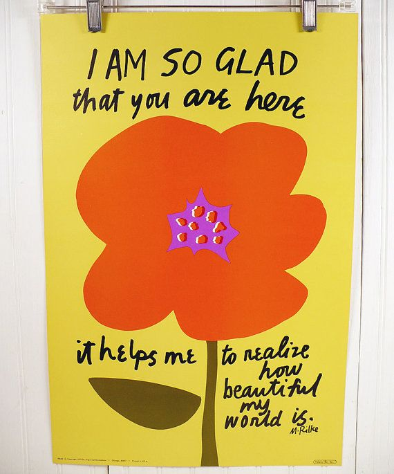Vintage Motivational Poster  Rainer Maria Rilke by vintagegoodness