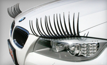 Eyelashes for your car  ????  lol