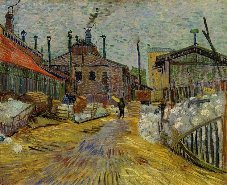 """"""" Vincent van Gogh A factory at Asnières 1887 46.5 x 54 cm Oil on canvas """""""
