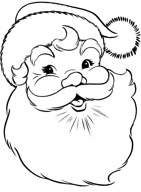 face of santa claus coloring pages christmas coloring pages