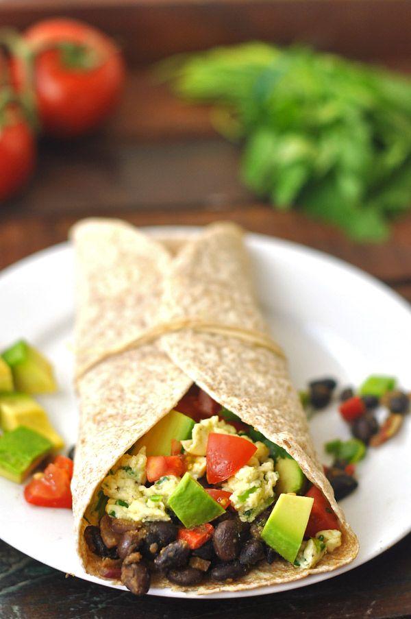 Vegetarian Breakfast Burritos Recipe Dishmaps