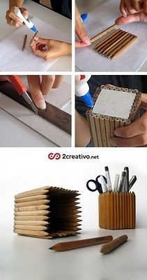 "Foto ""pinnata"" dalla nostra lettrice Carla Covasce, blogger di Craft Patisserie Ikea Meta  Pencil holder made with ikea pencils."