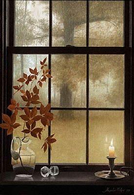 Beautiful autumn window