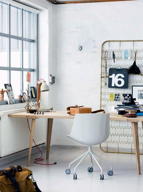 bureau perpendiculaire au mur