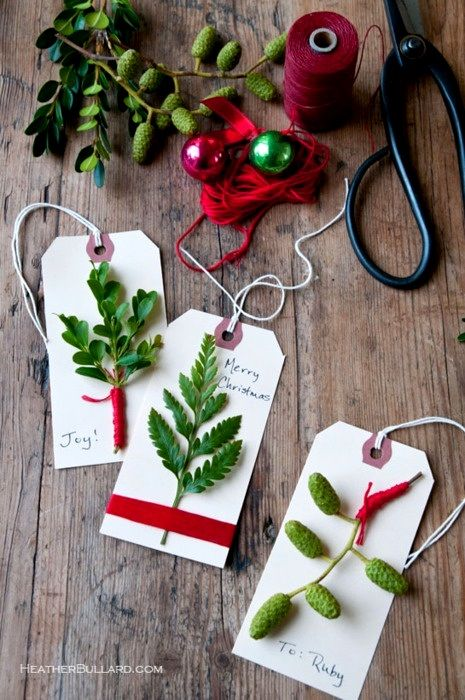 Christmas gift wrapping ideas ToniK ⓦⓡⓐⓟ ⓘⓣ ⓤⓟ  #DYI craft tags rustic #Christmas