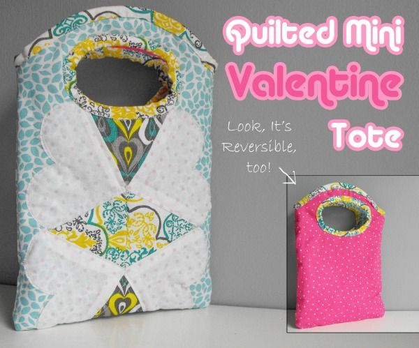 Quilted Mini Valentine Tote - The Sewing Loft
