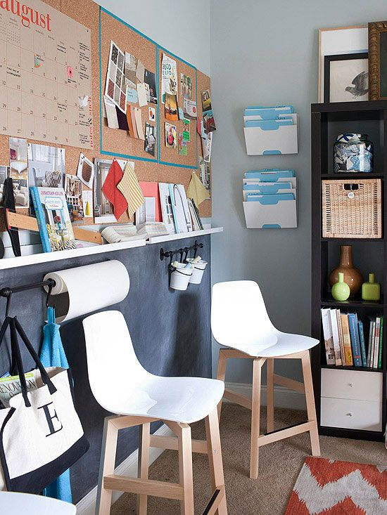 Your walls can be your best friend when you start to organize! More small space storage inspiration: http://www.bhg.com/decorating/storage/organization-basics/slivers-of-space-storage/?socsrc=bhgpin012114wallstorage&page=11