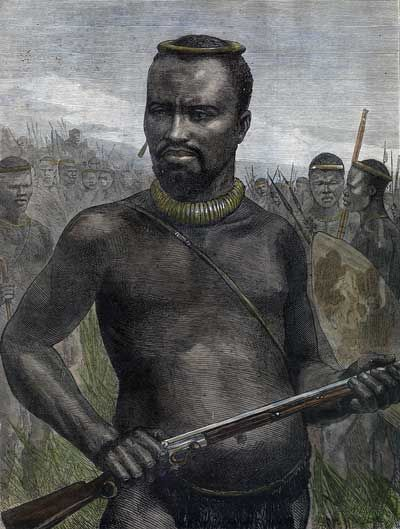 'Dabulamanzi', brother of King Cetshwayo and commander of the Zulu Army at Isandlwana where the Zulus massacred a battalion of the British Army on 22 January 1879. It was the first major encounter in the Anglo-Zulu War between the British Empire and the Zulu Kingdom.