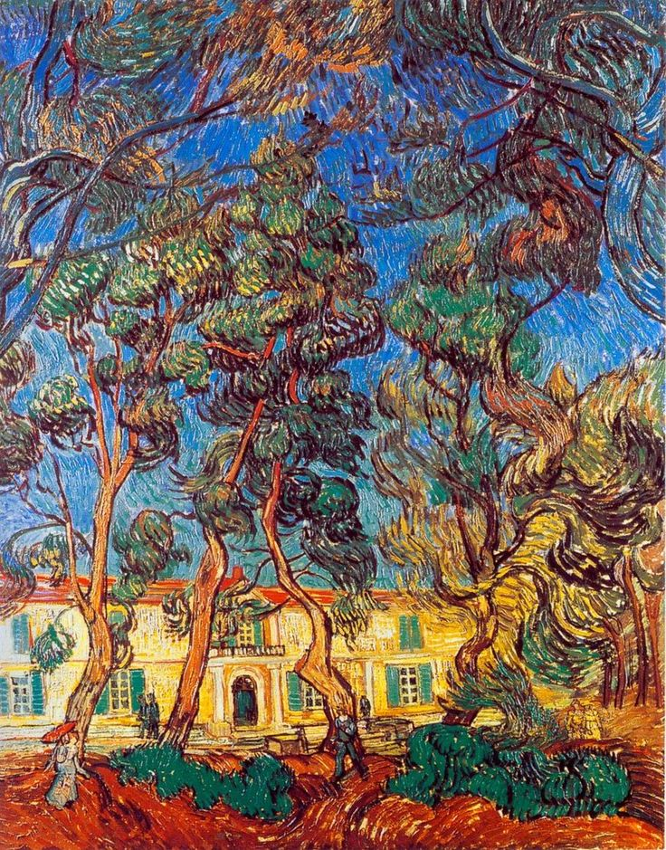 Vincent van Gogh ~ Trees in the Garden of Saint-Paul Hospital, 1889