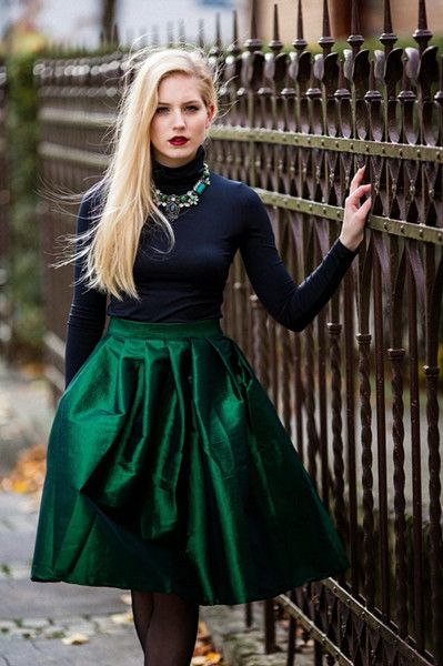 FABULOUS, full skirt . . . and ready for just about any holiday party, short of a black-tie event.