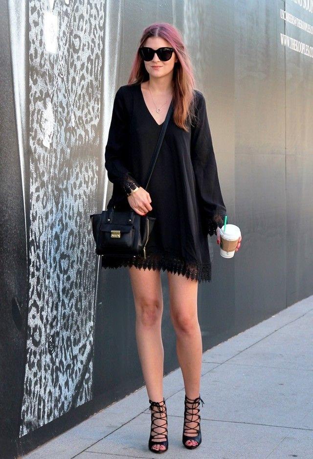 All black street style