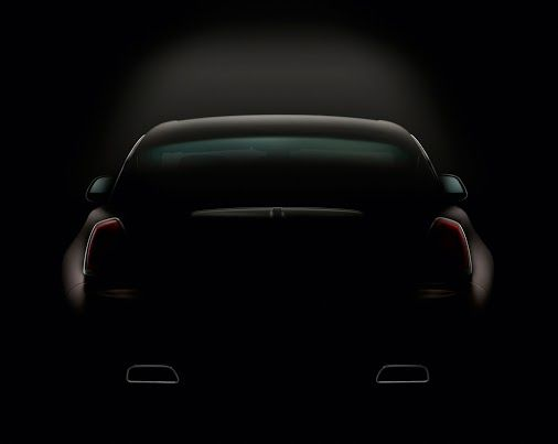 February: The second official teaser image makes clear the huge power embodied by the mystery car's haunches.