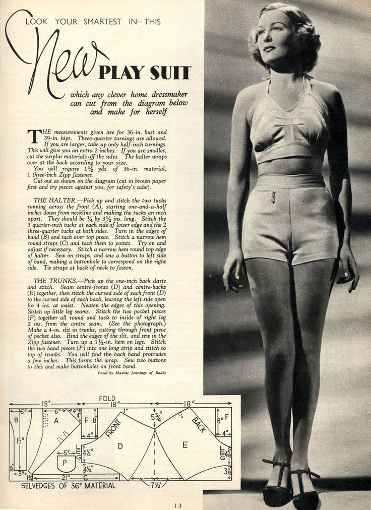 1937 playsuit