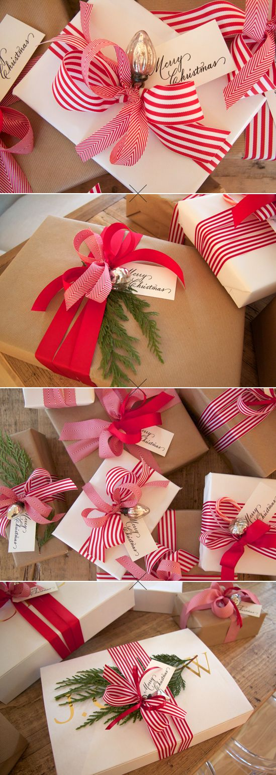 20 Clever Gift Wrap Ideas Using Simple Brown Or White Paper And The Winner Is Cindy Hattersley Design