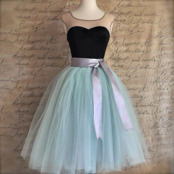 Soft mint  green tulle tutu skirt.  Tulle by TutusChicBoutique, $185.00