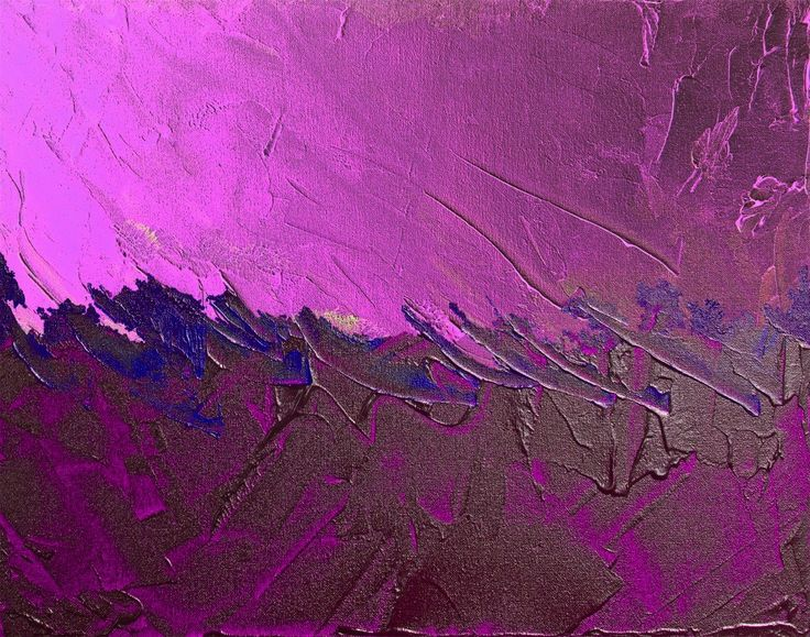 Carlyle Fine Art Violet Strokes Wall Art - Radiant Orchid #pantone