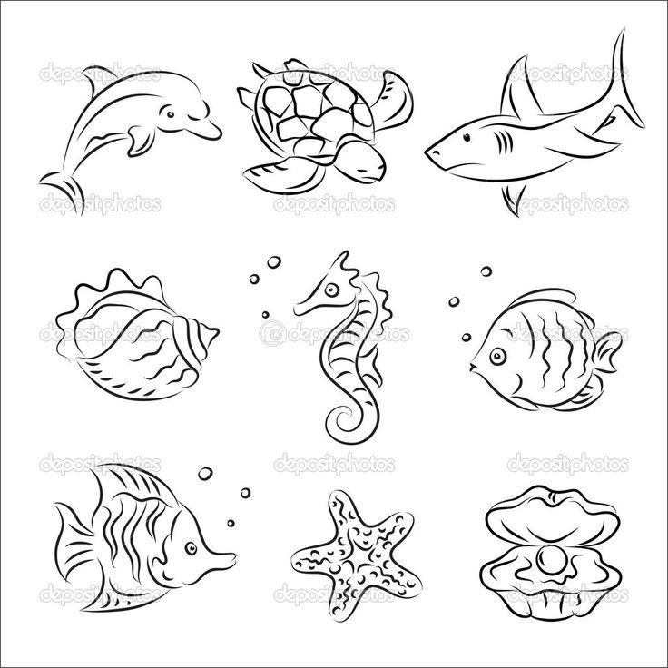 depositphotos 4090909 sea life vector sketch set jpg 1024 1024