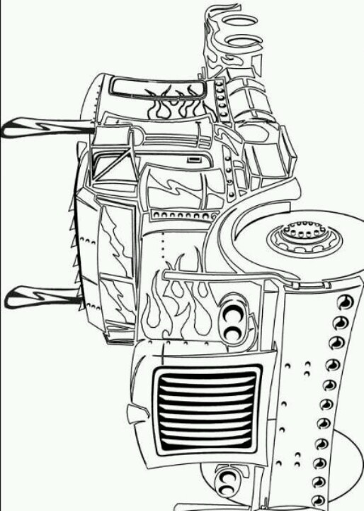optimus prime truck coloring page optimus prime coloring page