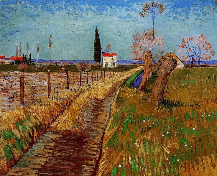 Vincent can Gogh. Path Through a Field with Willows