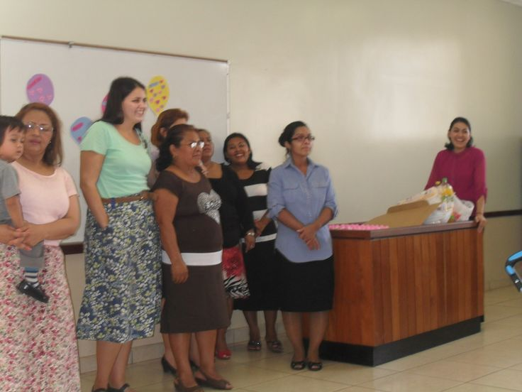 The Relief Society singing to everybody who had a birthday in the last 3 months.