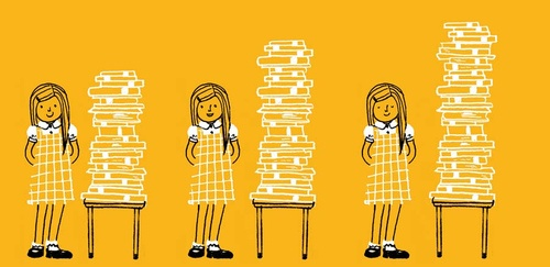 Girls and books (by Kyoko Nemoto)