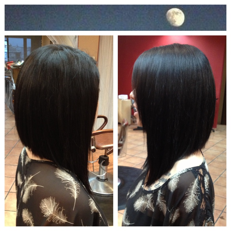 The Long Angled Bob With Or Without A Side Fringe