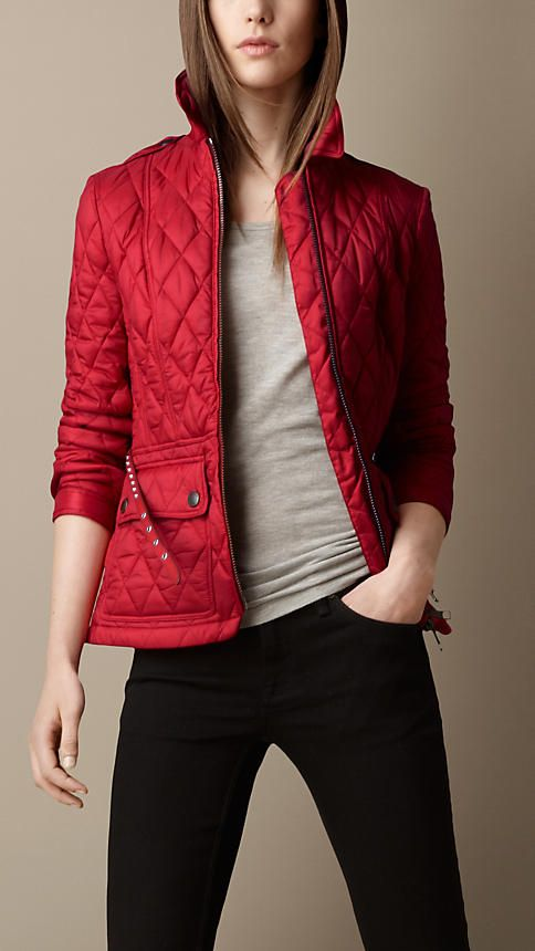 Studded Belt Quilted Jacket | Burberry