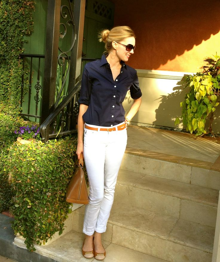 C. Style: White and Navy