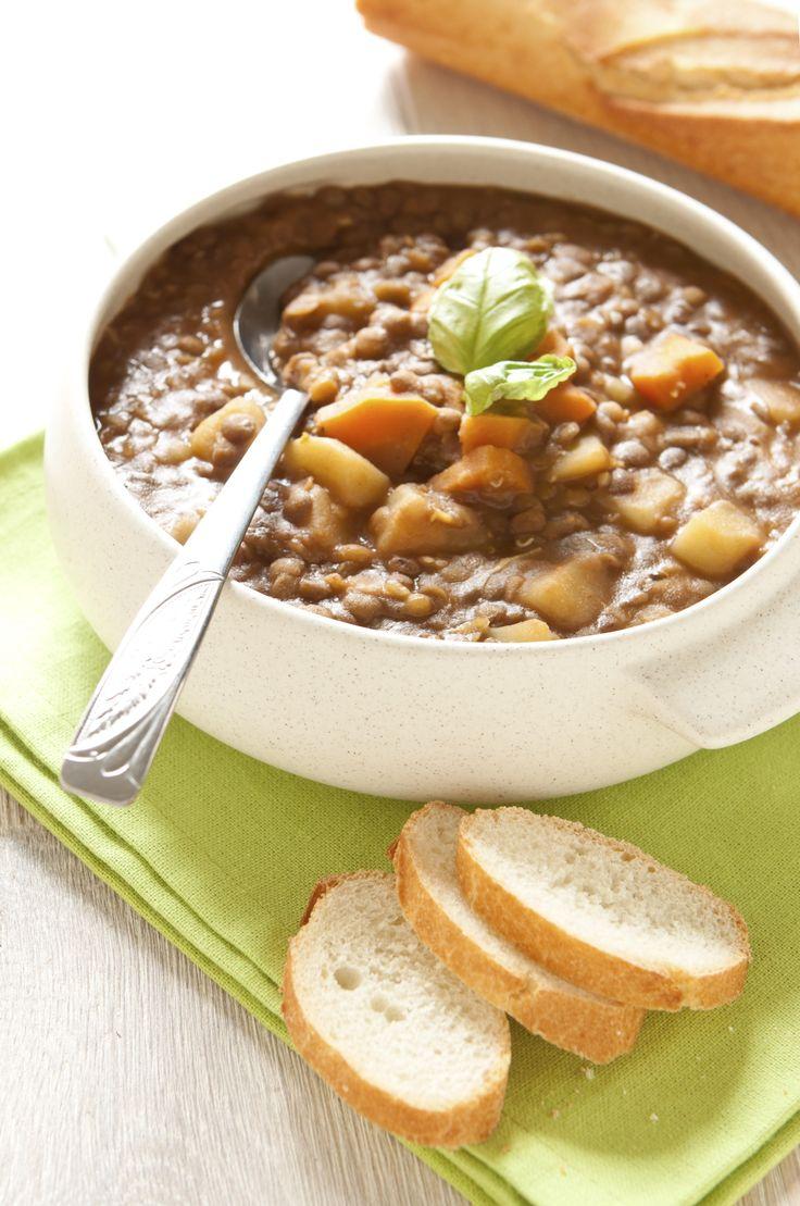 Receta de Sopa de Lentejas con Tocino