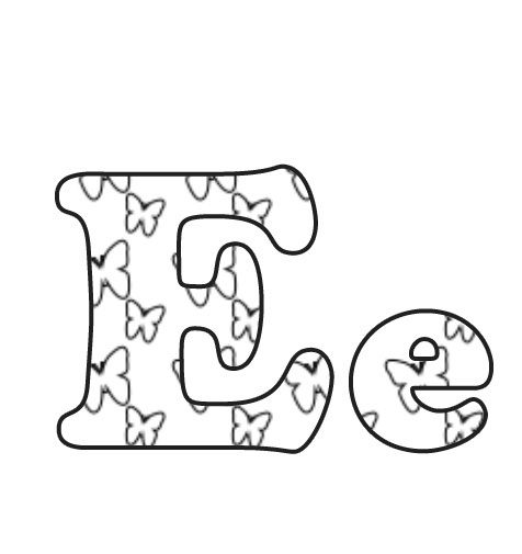 letter e is for butterfly coloring page letter pinterest