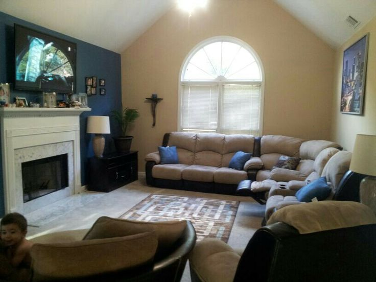 Brown And Blue Living Room Color Schemes