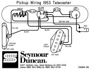 Pickup wiring  '53 Telecaster | Telecaster | Pinterest