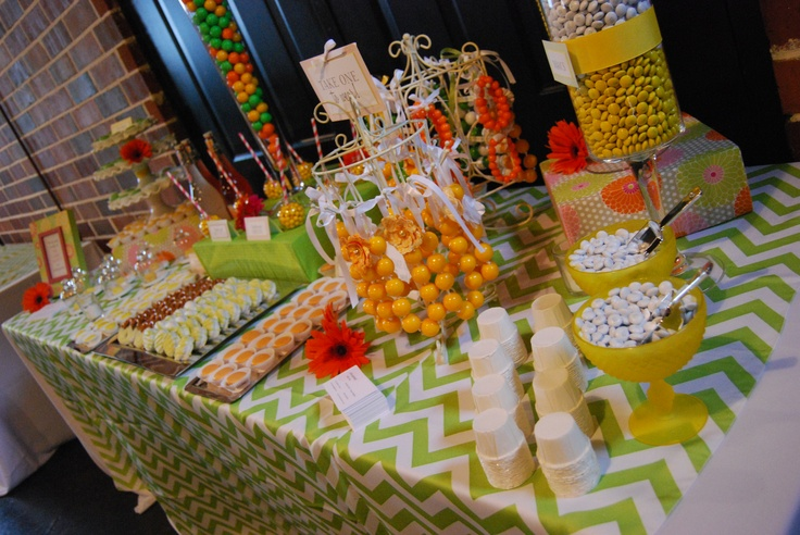 Two Sweets Bake Shop citrus inspired candy + dessert buffet