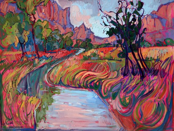 Memory of Zion - Oil painting by Erin Hanson