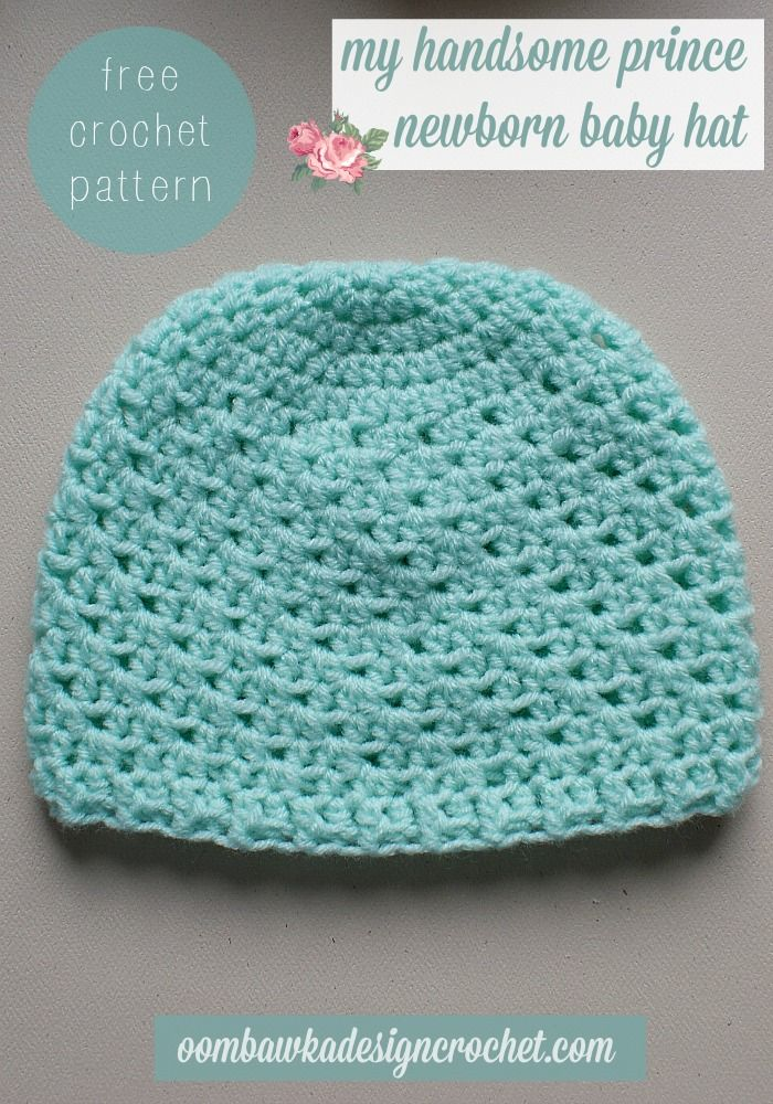 My Handsome Prince Newborn Baby Hat