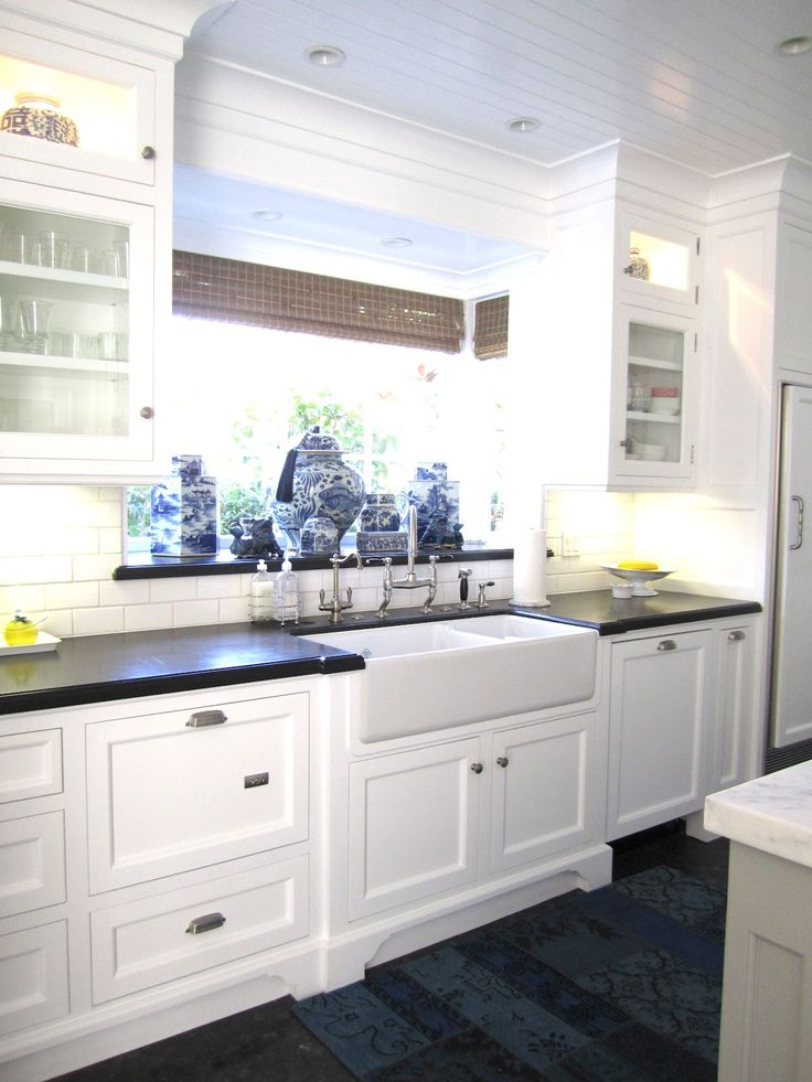 """classic • casual • home: """"New Classic"""" Beach Kitchen Part Two  I like the ceiling and the recessed lights  ABE - I like the lighting"""