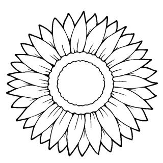 sunflower coloring pages for little ones pinterest